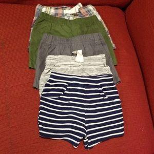 7 bundle baby shorts 3-9 months